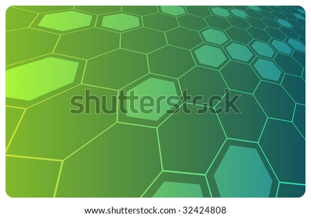 Green abstract hi-tech illustration for science or business background. Vector in my portfolio - stock photo