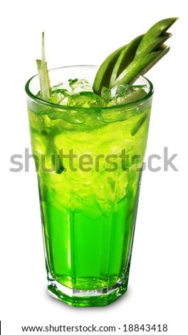 Green apple liqueur stock photos images pictures for Green apple mixed drinks