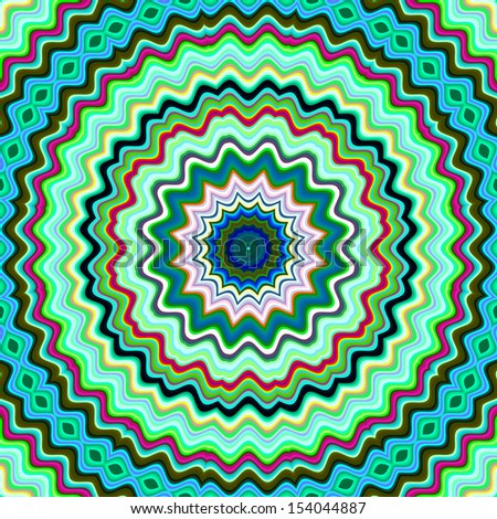 Green and blue colorful kaleidoscopic pattern. - stock photo