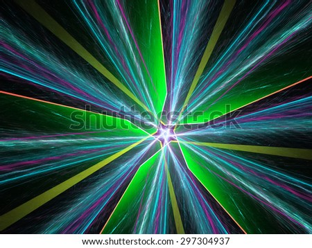 green and blue glow rays background - stock photo