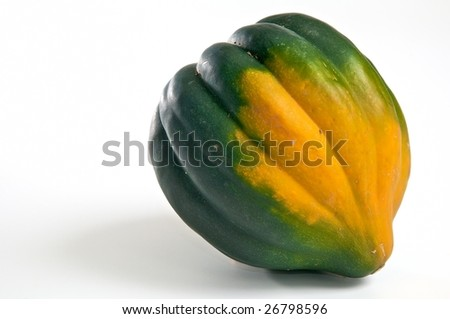 green and orange acorn squash - stock photo