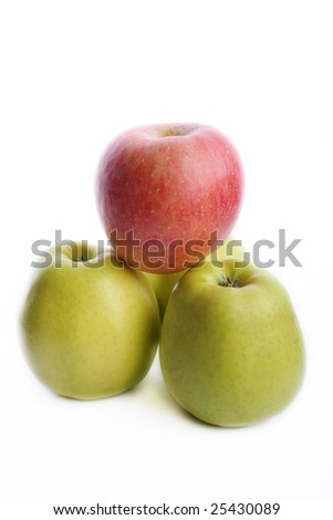 Green and red apples - stock photo