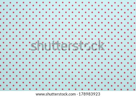 green and red polka dot - stock photo