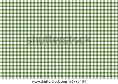 Green and white gingham - seamless texture - stock photo