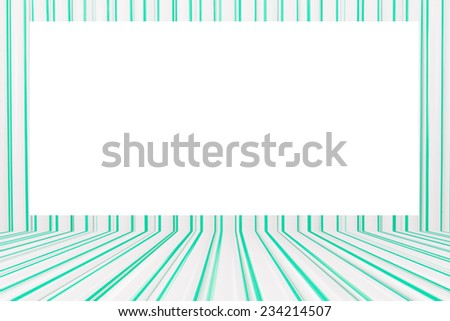 green and white picture frame  - stock photo