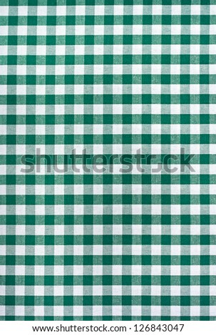 Green and white tablecloth. Provence style. - stock photo