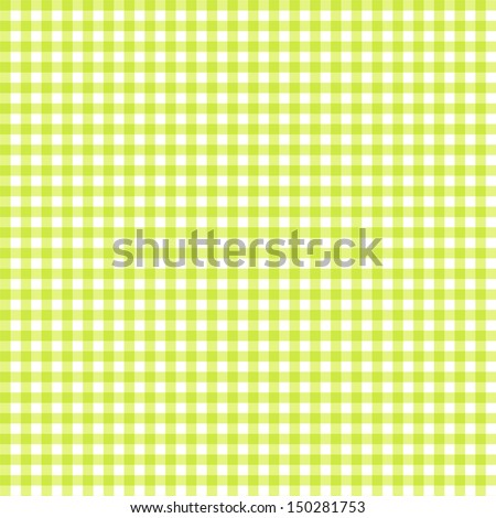 Green and white tablecloth seamless pattern - stock photo
