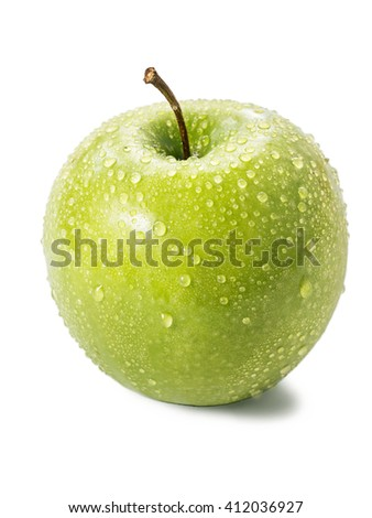 Green apple isolated on a white background - stock photo