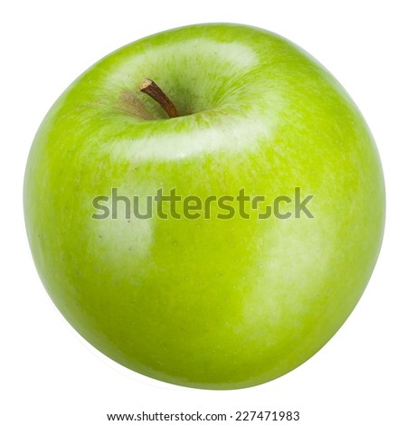 Green apple Isolated on a white background. With clipping path - stock photo