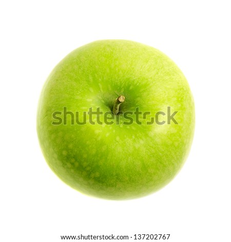 Green apple isolated on the white background - stock photo