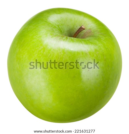 Green apple Isolated on white background. With clipping path - stock photo