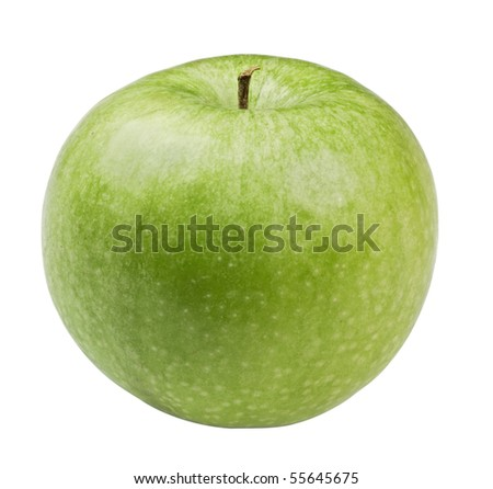 green apple,isolated on white with clipping path. - stock photo