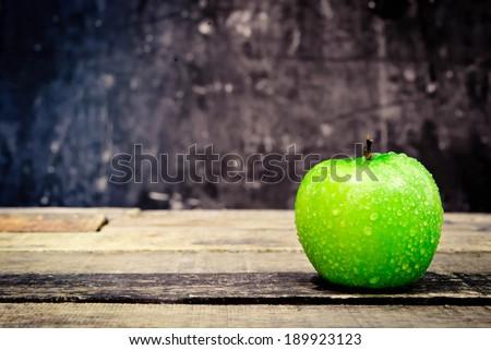 green apple. Still life. - stock photo