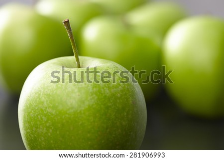 green apples - stock photo