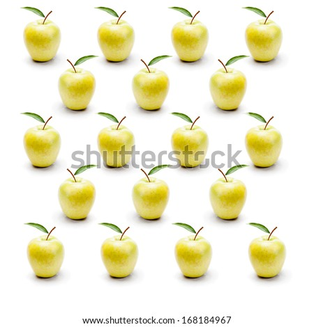 Green apples  grid  - stock photo