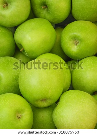 Green apples. Group of green apples - stock photo