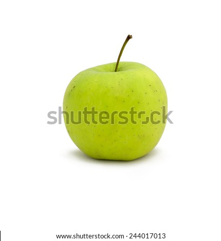 Green apples isolated on white. - stock photo