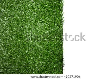Green artificial grass area - stock photo