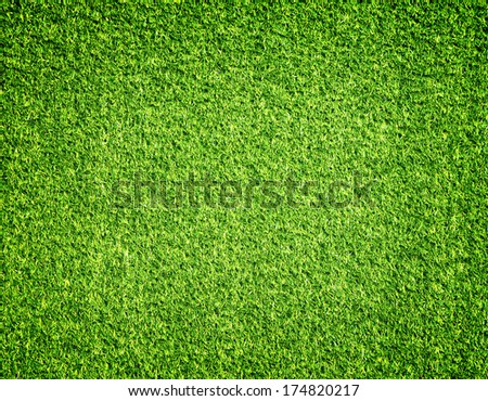 Green artificial turf pattern ,texture for background - stock photo