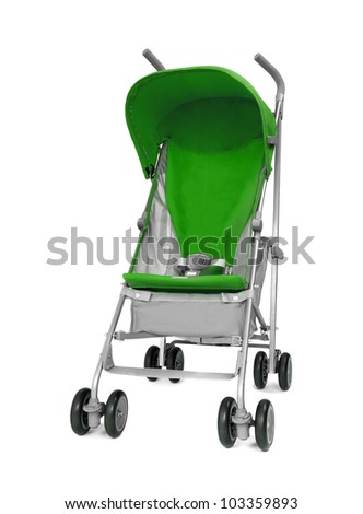 green Baby Carriage - stock photo