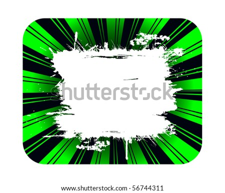 Green background and grunge white banner for copy - stock photo