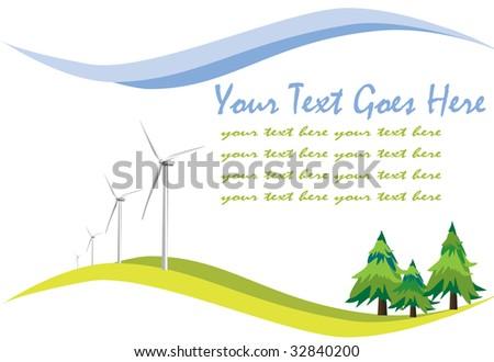 Green background illustration - stock photo