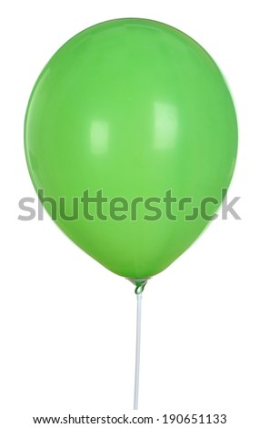 Green Balloon Isolated On White Background - stock photo