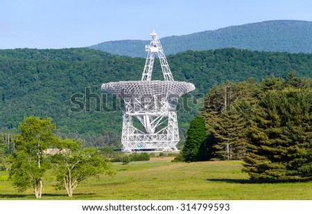 Green Bank Telescope - stock photo