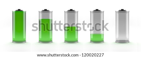 Green battery status - stock photo