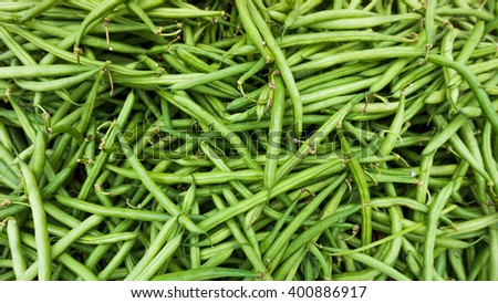 Green Beans Background - stock photo