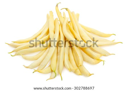 Green beans (french bean) isolated on white - stock photo