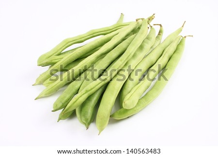 Green beans isolated on a white background  - stock photo
