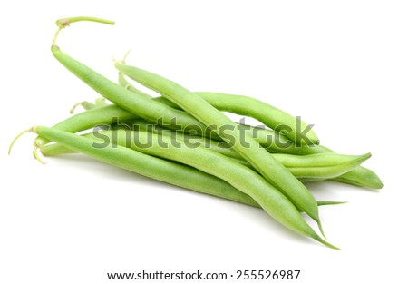 green beans isolated on white - stock photo
