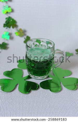 Green Beer for Saint Patrick's Day - stock photo