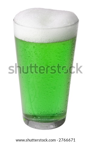 Green Beer: St. Patrick's Day Tradition - stock photo