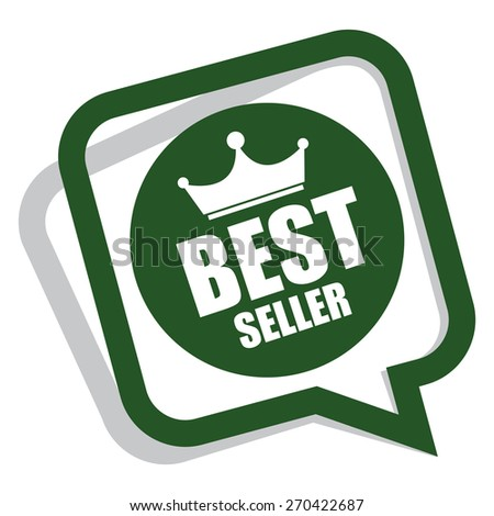 green best seller speech bubble, speech balloon, sticker, sign, icon, label isolated on white - stock photo