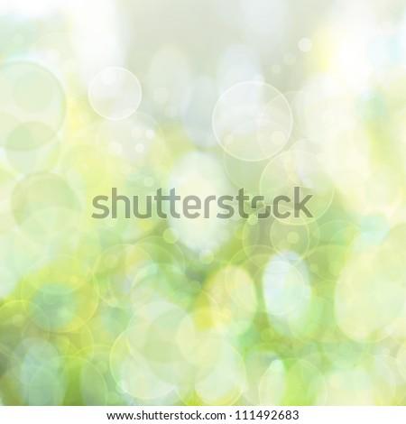 green bokeh background - stock photo