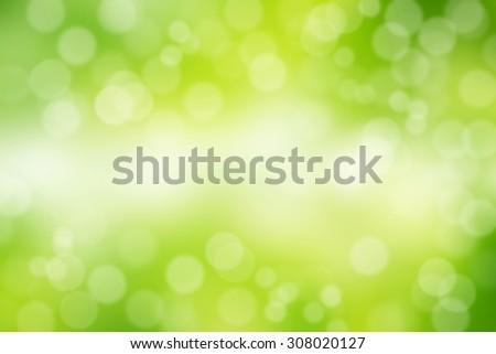Green bokeh background. - stock photo