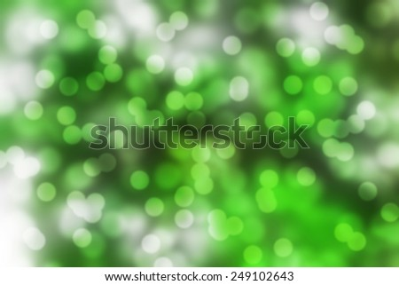 Green bokeh background. abstract blurred lights - stock photo