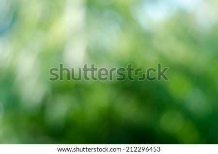 Green bokeh light of blur nature image background - stock photo