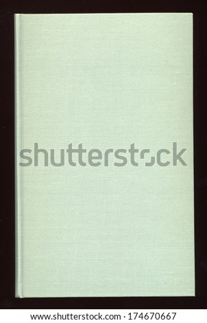 Green book cloth useful as a background - stock photo