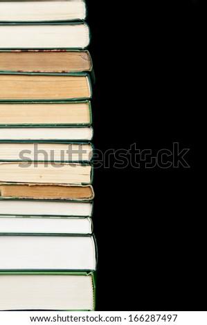 green books  - stock photo