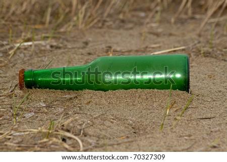 Green bottle - stock photo