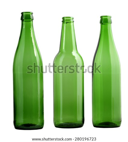 green bottles - stock photo