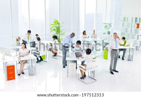 Green Business Office - stock photo