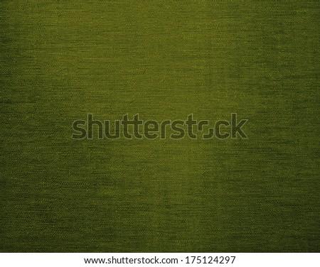 Green canvas grunge background texture - stock photo