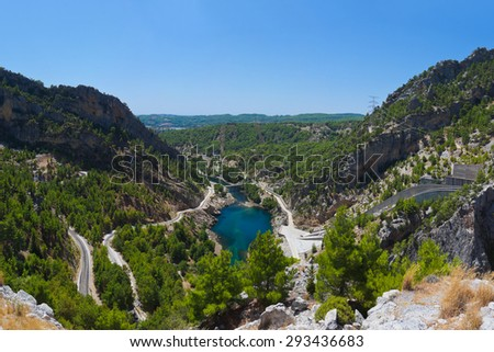 Green canyon at Turkey - nature travel background - stock photo
