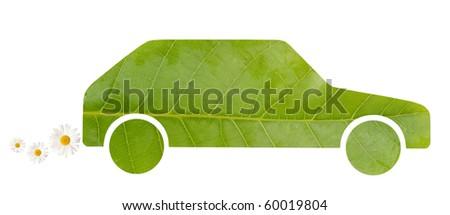 Green car - stock photo
