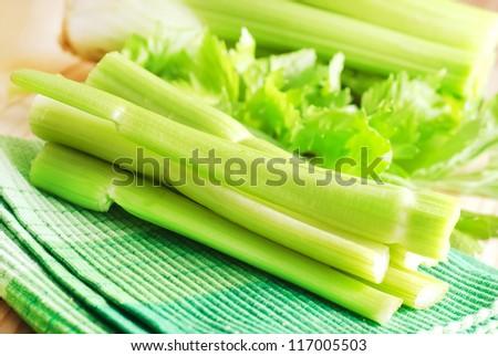 green celery - stock photo