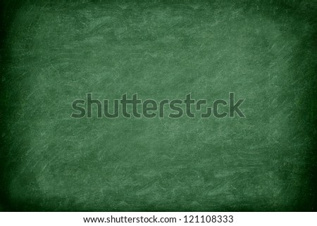 Green chalkboard / blackboard. Great texture background. Photo. - stock photo